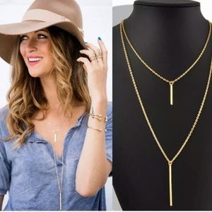 Jewelry - Double Layer Gold Plated Necklace